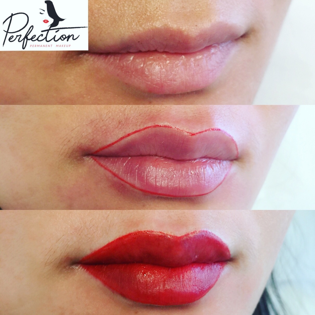 Before and After Lip Color