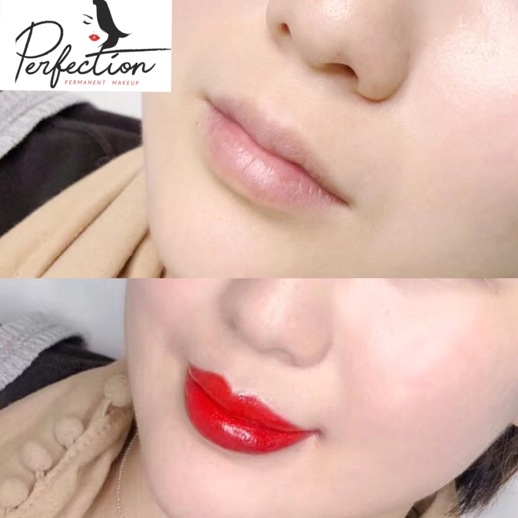 Lips Coloring Before and After