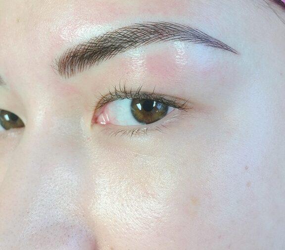 After Eyebrow Microblading