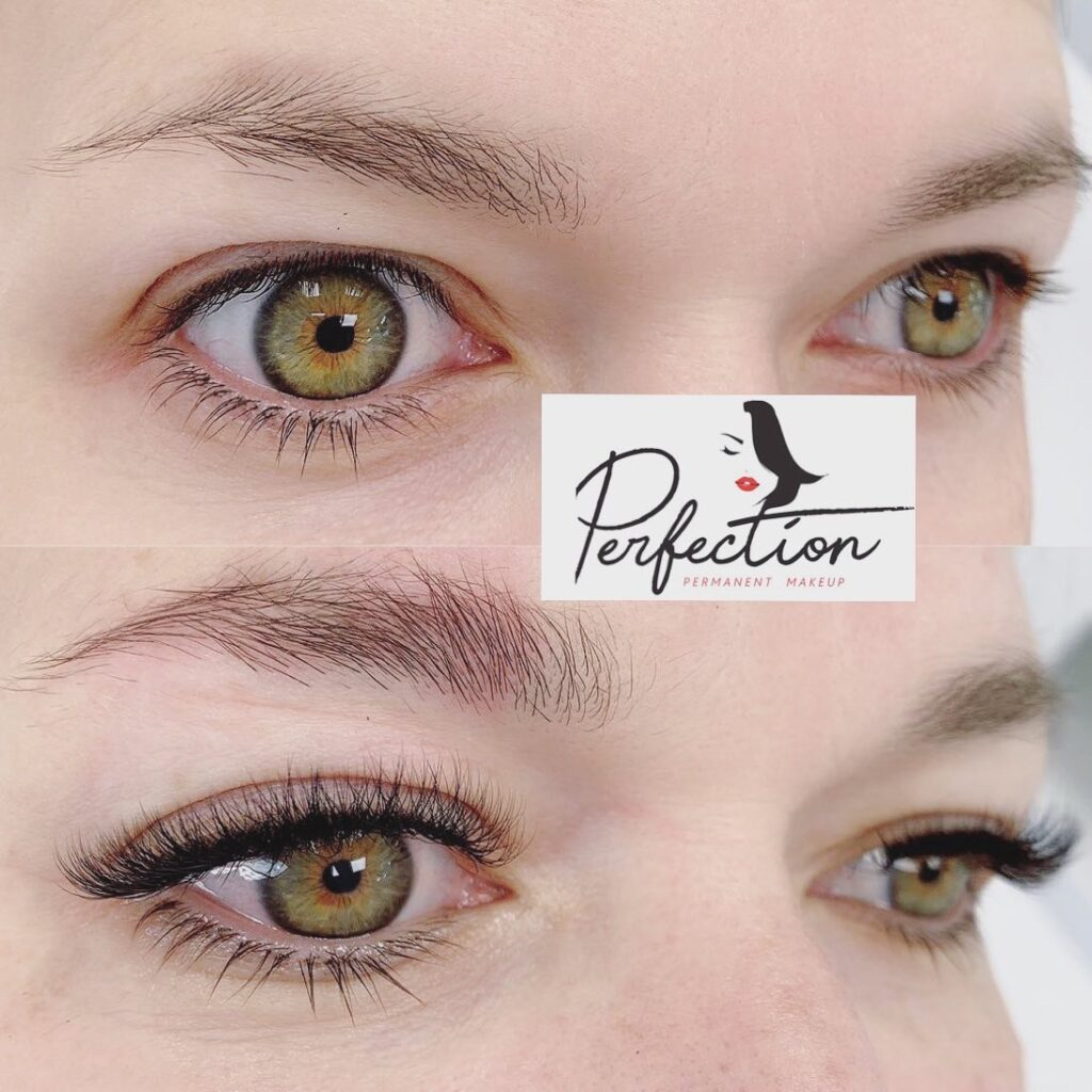 Eyelash Extension Client Before and After