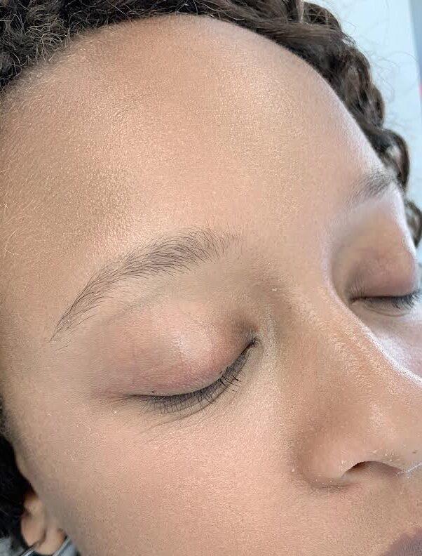 eyebrow microblading before 1