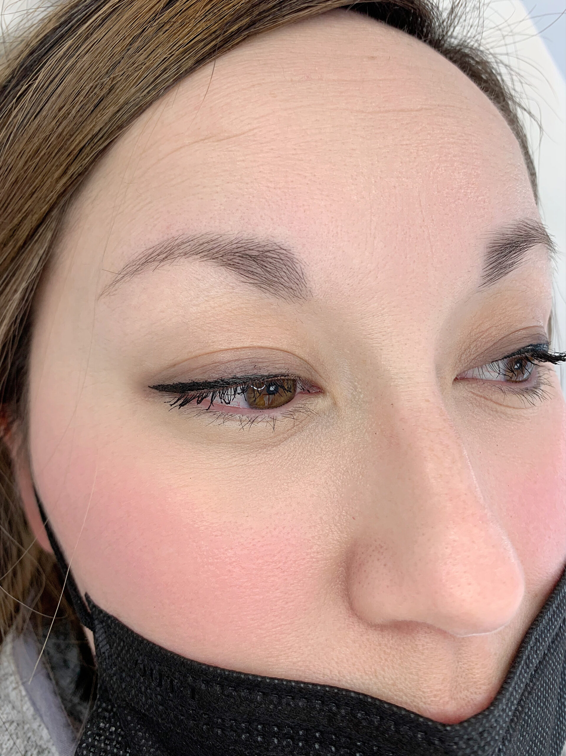 Permanent Makeup Microblading Client Before