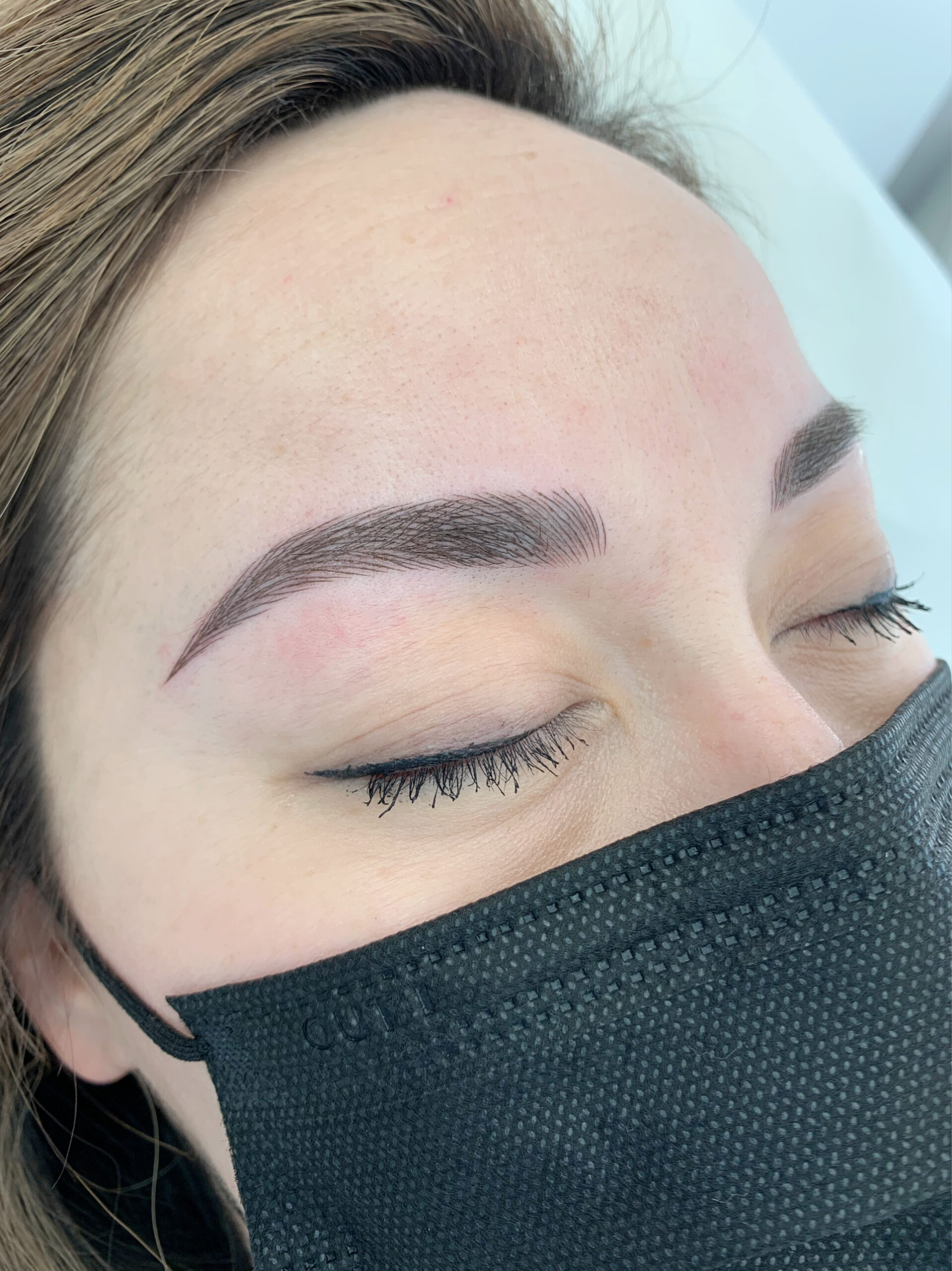 Permanent Makeup Microblading Client After