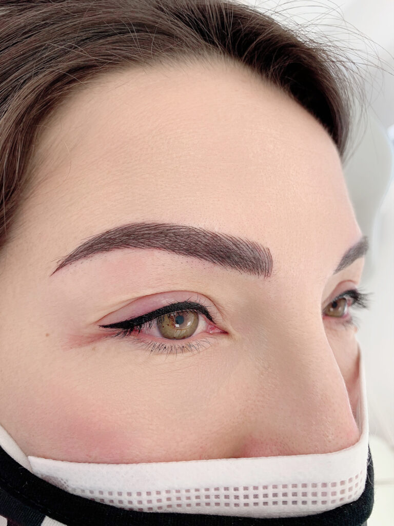 Permanent Makeup Eyeliner Client After