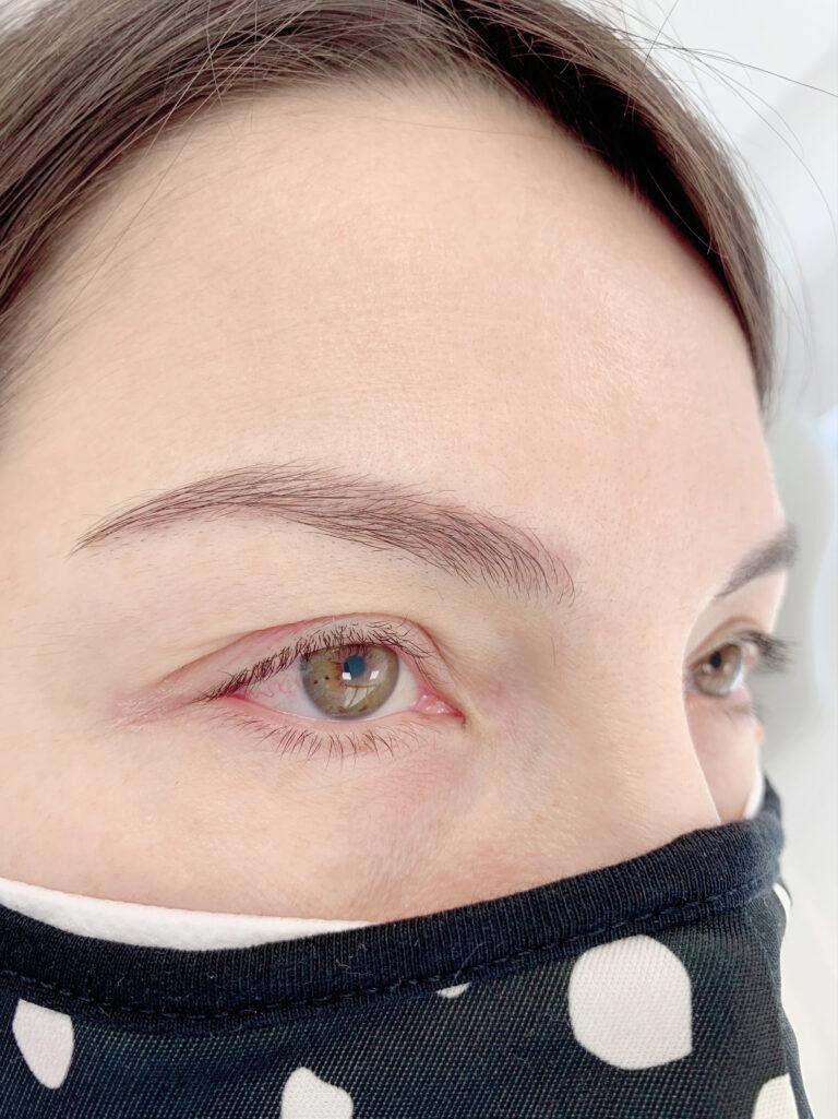 Permanent Makeup Eyeliner Client Before